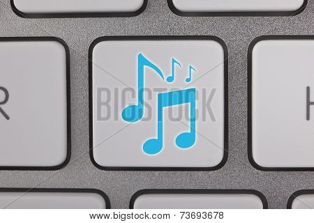 Music Notes on Computer Keyboard