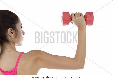 Fit Woman Lifting Dumbbell
