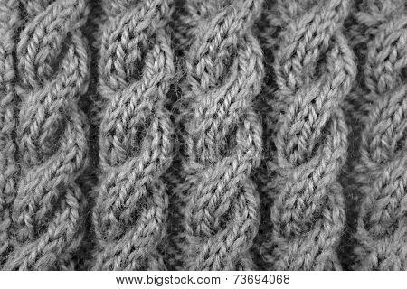 Closeup Of Cable Knitting Stitch