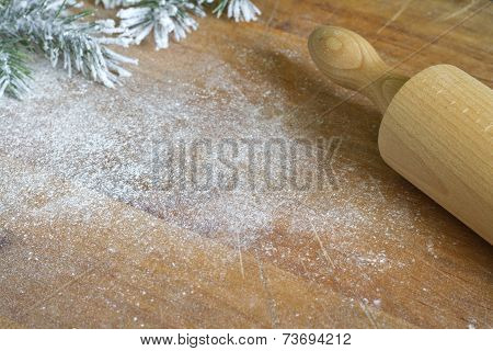 Christmas backing and cooking background