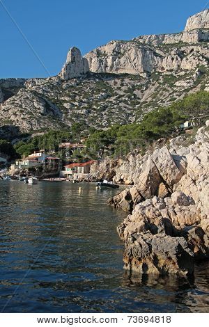 Marseille, France, October 3, 2014 : Calanques Of Sormiou. The Newly Declared Calanques National Par