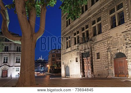 Marseille, France, October 4, 2014 : Marseilles By Night. Marseilles, Known In Antiquity As Massilia
