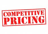picture of competition  - COMPETITIVE PRICING red Rubber Stamp over a white background - JPG
