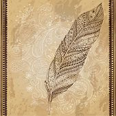 image of feathers  - Artistically drawn - JPG