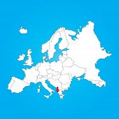 picture of albania  - A Map of Europe with a selected country of Albania - JPG