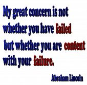 stock photo of abraham  - A 3D metallic quote in Gold and red by Abraham Lincoln - JPG