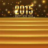 picture of stage decoration  - Happy New Year 2015 background with steps - JPG