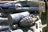 foto of grenades  - Two differents shapes of fragmentation grenades  - JPG
