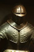 stock photo of armor suit  - the steel ancient military knightly armor showing - JPG