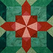 foto of quilt  - Detail of the quilt from pieces of fabric - JPG