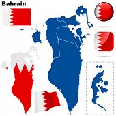 stock photo of bahrain  - Bahrain set - JPG