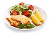 stock photo of halibut  - Fish dish  - JPG