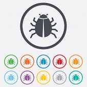 image of disinfection  - Bug sign icon - JPG