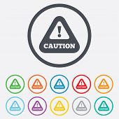 image of hazard symbol  - Attention caution sign icon - JPG