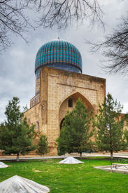 picture of samarqand  - Bibi-Khanym Mosque in Samarkand. Republic of Uzbekistan