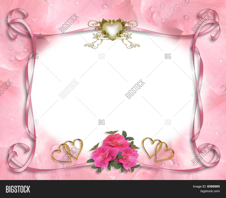 Wedding Invitation Border Pink Image & Photo | Bigstock