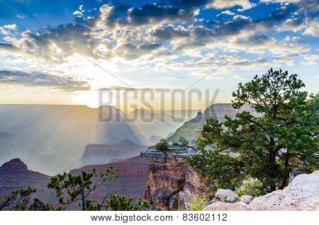 Sunrise At The Grand Canyon In Arizona, Usa