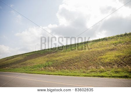 Road side hills view