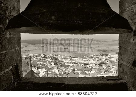 Andalusian Village View From A Bell Tower In Spain