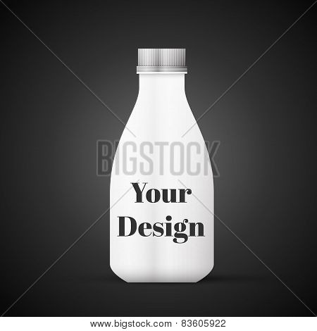 Blank Milk or Juice Pack isolated on black background