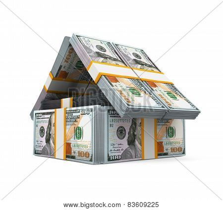 US Dollar Bills Pack Money House