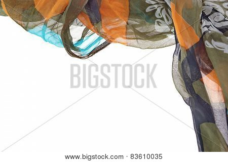 Chiffon Wavy Colorful Border Background