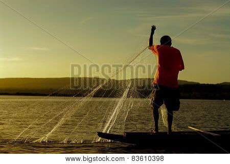 People fishing