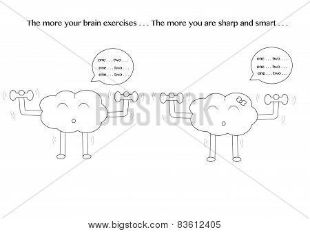 Linear Brain Cartoons Exercise
