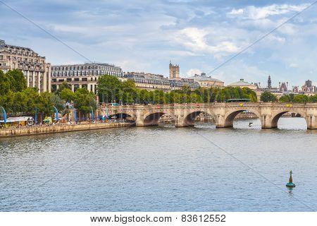 Pont Neuf. Oldest Bridge Across Seine River In Paris