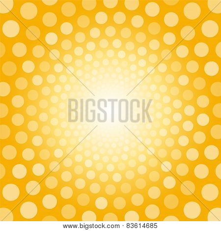 Bright Yellow Background With White Polka Dots