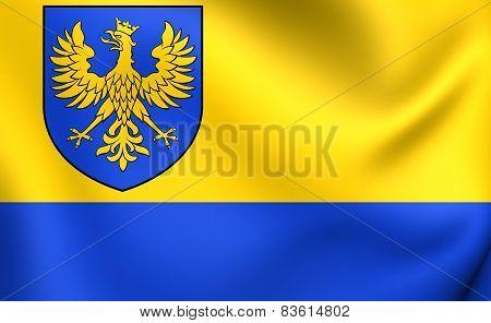 Flag Of Opole Voivodeship, Poland.