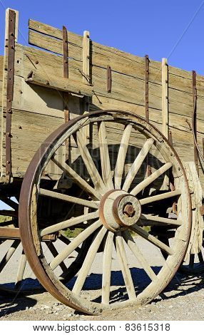 Horse and Mule driven Wagons used in the Borax Works in Death Valley