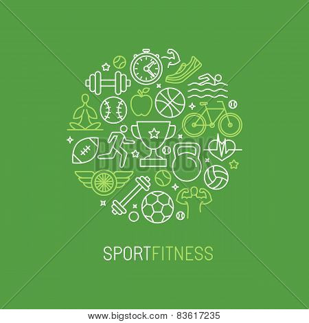 Vector Linear Sport And Fitness Logo