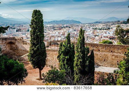 Gibralfaro Fortress (alcazaba De Malaga). Malaga City. Spain