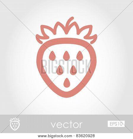 Vector Strawberry Icon