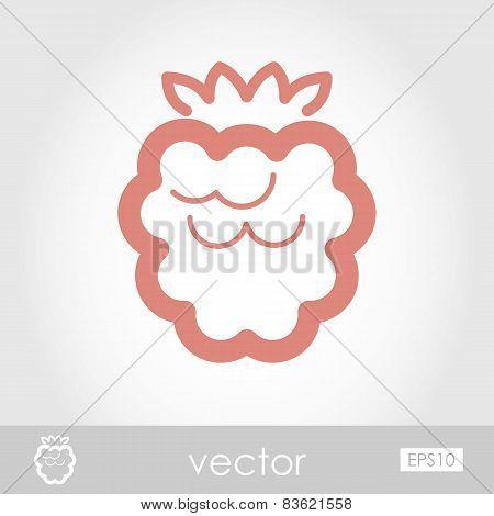 Vector Raspberry Icon