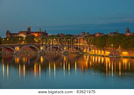 View Of Toulouse At Night