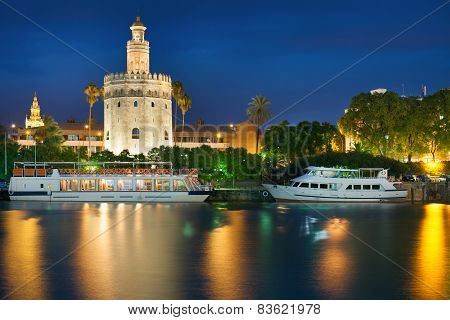 View Of Seville At A Summer Night