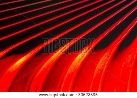 Red & Black Lines Abstract