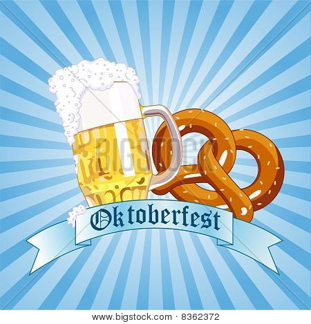 Oktoberfest Celebration Radial Background