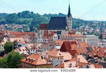 St. Vitus Church In Cesky Krumlov (czech Republic)