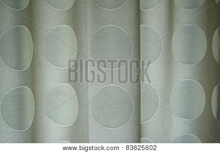 Detail Of Polka Dotted Curtains