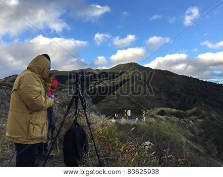 Photographer Take Photo Of The Beauty Of Taiwan Nature In Taichung, Taiwan