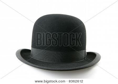 Black bowler hat