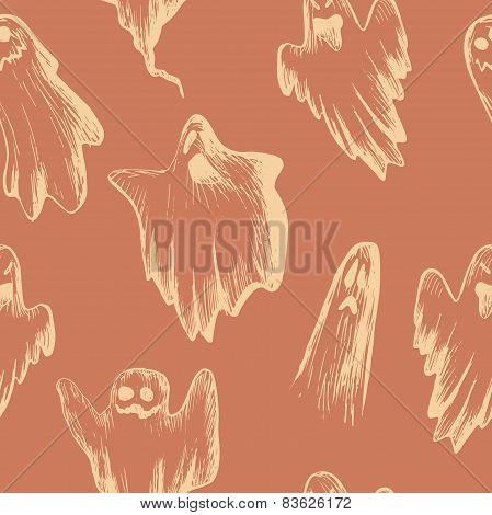 Vector Halloween seamless