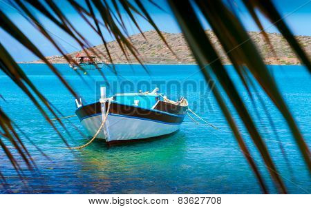 Fishing Boats Off The Coast Of Crete, Greece