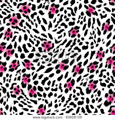 Glam leopard seamless vector print