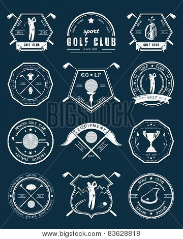 Vector Set Of Labels Sports Games - Golf