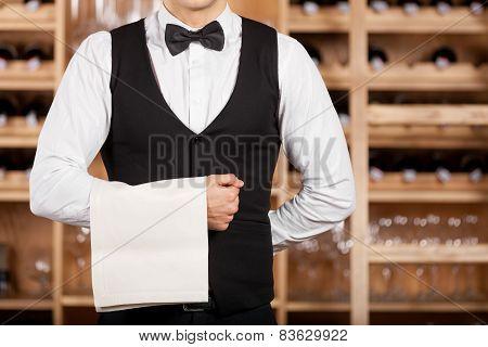 Confident Waiter.