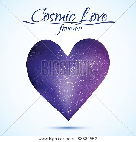 Heart illustration in cosmos style